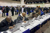 More than 5,000 unemployed residents of southeast Michigan showed up to look for work, at a job fair, sponsored by the City of Detroit. Some job seekers fill out applications on computers, while other... - Jim West - 12-03-2009