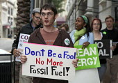 New Orleans, Louisiana - Environmentalists march to the headquarters of Entergy Corporation to protest at the electric utility plan to convert an old natural gas plant to burn coal to produce electric... - Jim West - 2000s,2009,activist,activists,against,Air Pollution,America,American,americans,anti,campaign,campaigner,campaigners,campaigning,CAMPAIGNS,clean,Climate Change,coal,coast,coastal,coasts,degradation,DEM