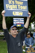 Lansing, Michigan - USW Union members march and rally for jobs. It's your fight too! Keep it made in America - Jim West - 01-06-2009