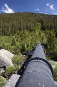 A Trans mountain water diversion pipeline carrying water from streams in the wilderness under the continental divide to the cities of Aurora and Colorado Springs, on the east side of the Rocky Mountai... - Jim West - 01-07-2009