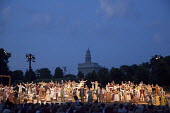 The Nauvoo Pageant, staged every summer by the Mormon church, traces the history of the Mormons who lived in Nauvoo in the 1840s, USA. - Jim West - 08-07-2009