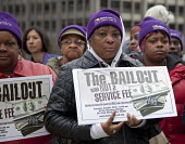 Chicago, Illinois - SEIU Trades union members and community organizations rally outside the conference of the American Bankers Association, demanding that the big banks and Wall Street firms stop lobb... - Jim West - American,2000s,2009,activist,activists,African American,African Americans,African-American,against,America,American,americans,Association,ASSOCIATIONS,bailout,BAME,BAMEs,bank,bankers,banks,black,BME,b