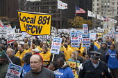 Chicago, Illinois - UFCW Trades union members and community organizations rally outside the conference of the American Bankers Association, demanding that the big banks and Wall Street firms stop lobb... - Jim West - American,2000s,2009,activist,activists,against,America,American,americans,Association,ASSOCIATIONS,bailout,bank,bankers,banks,banner,banners,CAMPAIGN,campaigner,campaigners,CAMPAIGNING,CAMPAIGNS,Chica
