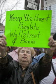 Chicago, Illinois - Trades union members and community organizations rally outside the conference of the American Bankers Association, demanding that the big banks and Wall Street firms stop lobbying... - Jim West - 27-10-2009