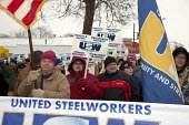 River Rouge, Michigan - Members of USW Local 1299 picket Great Lakes Steel, a subsidiary of US Steel, protesting that the company violating their contract by ignoring seniority in calling workers back... - Jim West - American,2010,2010s,activist,activists,AFL CIO,AFL-CIO,America,American,americans,CAMPAIGN,campaigner,campaigners,CAMPAIGNING,CAMPAIGNS,Caucasian,company,contract,DEMONSTRATING,demonstration,DEMONSTRA