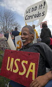 Protester dressed as Obama USSA Tea Party Express rally Detroit. - Jim West - 2010,2010s,activist,activists,against,America,BME Black minority ethnic American,campaign,campaigner,campaigners,campaigning,CAMPAIGNS,communism,Communist Party,communists,comrade,comrades,conservativ