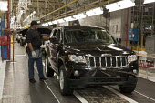 Workers assemble Chrysler new Jeep Grand Cherokee, at the Jefferson North Assembly Plant. - Jim West - 21-05-2010