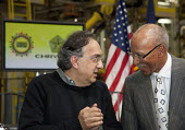 Chrysler CEO Sergio Marchionne with Detroit Mayor Dave Bing, as Chrysler introduces the new Jeep Grand Cherokee, at the Jefferson North Assembly Plant. - Jim West - 21-05-2010