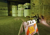 Radioactive nuclear waste from America's nuclear weapons program stored in an ancient salt formation a half mile underground at the Waste Isolation Pilot Plant. USA - Jim West - 11-10-2010
