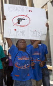 Detroit, Michigan - Detroit youth, mostly high school pupils, marched through downtown streets to urge their elected leaders to take action against gun violence in their community. - Jim West - 25-08-2011