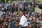 President Obama speaking at Labor Day Rally in Detroit - Jim West - American,2010s,2011,African American,African Americans,America,American,americans,BAME,BAMEs,black,BME,bmes,campaign,campaigning,CAMPAIGNS,DEMOCRACY,Democratic Party,Democrats,Detroit,diversity,electi