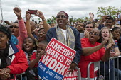 President Obama supporters at Labor Day Rally in Detroit. - Jim West - American,2010s,2011,African American,African Americans,America,American,americans,applauding,applause,BAME,BAMEs,black,BME,bmes,campaign,campaigning,CAMPAIGNS,DEMOCRACY,Democratic Party,Democrats,dive