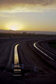 Canals bringing water from the Colorado River to irrigate the Imperial Valley. USA. - Jim West - 27-01-2012