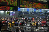 Chicago, Illinois. Commodities and futures trading on the floor of the Chicago Mercantile Exchange - Jim West - 06-03-2012