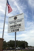 Falfurrias, Texas - A sign at the permanent U.S. Border Patrol checkpoint on Highway 281, about 70 miles north of the border indicating the number of drug seizures and arrests of undocumented immigran... - Jim West - CLJ American,2010s,2013,2nd,adult,adults,aliens,America,BAME,BAMEs,BME,bmes,border,Border Patrol,Brooks,CBP,check,checkpoint,CLJ,communicating,communication,County,cross,crosses,crossing,Diaspora,dive
