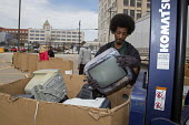 Detroit, Michigan - Old and unwanted electronic items are collected for recycling at Wayne State University. - Jim West - 24-04-2014