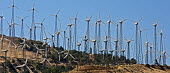 Tehachapi, California. The world's second largest wind farm, Tehachapi Pass, northeast of Los Angeles. A dozen private companies operate about 5,000 turbines on the site. - Jim West - 27-06-2012