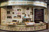 Salt Lake City, Utah - A display about the Book of Mormon at a Mormon visitor center in Temple Square. - Jim West - 14-11-2014