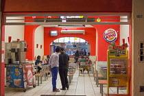 Oaxaca, Mexico - A Burger King fast food restaurant. - Jim West - 17-01-2015