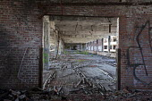 Detroit, Michigan - The abandoned Packard plant. Opened in 1903, the 3.5 million square foot plant employed 40,000 workers before closing in 1958. It has been left to decay. - Jim West - 13-07-2011