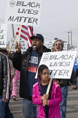 Inkster, Michigan - Black Lives Matter, Hundreds marched to protest the beating of Floyd Dent, an African-American auto worker, by white police officers. The beating was captured on a police cars vide... - Jim West - 03-04-2015
