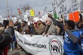 Inkster, Michigan - Hundreds marched to protest the beating of Floyd Dent, an African-American auto worker, by white police officers. The beating was captured on a police car's video camera and was wi... - Jim West - American,2010s,2015,activist,activist activists,activists,adult,adults,African American,African Americans americans,against,America,American,americans,anti racism,anti racist,BAME,BAMEs,beating,bigotr