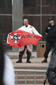 Toledo, Ohio, Neo-Nazi National Socialist Movement hold a rally on the steps of the government office building. Several hundred people turned out to protest against the Nazis. - Jim West - 18-04-2015