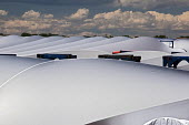 Colorado, wind turbine blades outside Vestas Wind Systems factory USA - Jim West - American,2010s,2015,Alternative Energy,America,American,americans,blade,blades,capitalism,capitalist,Colorado,curve,curves,EBF,Economic,Economy,ELECTRICAL,ELECTRICITY,ENERGY,FACTORIES,factory,farm,far