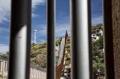 Nogales, Sonora, Mexico. The border fence between the USA and Mexico - Jim West - 2010s,2015,America,american,americans,americas,Arizona,barrier,barrier barriers,border,Border and Immigration Agency,border control,border controls,border fence,borders,boundary,CLJ,Diaspora,divide,di