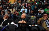 British MP George Galloway with members of the British Viva Palestina Aid Convoy at a public meeting as the convoy passes through Libya , on a 5000 mile journey by road to Gaza following Israels devas... - Mike Day - 24-02-2009