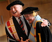 Neil Kinnock receives an honorary degree from Glasgow Caledonian University. He was awarded an honorary Doctorate of Letters in recognition of his outstanding contribution to politics and the promotio... - Mike Day - , mortarboard,2000s,2009,academic,ACADEMICS,achievement,adult,Adult Education,adults,ceremonies,ceremony,degree,degrees,edu,educate,educating,education,educational,Glasgow,gown,gowns,graduate,graduate