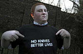 Robert Cairns (17) Glasgow is one of many young people who have taken part in the No Knives, Better Lives initiative to inform young people of the devastating personal consequences that carrying a kni... - Mike Day - 2010,2010s,carries,carry,carrying,CLJ,crime,Glasgow,knife,knives,personal,Scotland,Scottish,weapon,WEAPONS,young,YOUNGER