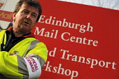 CWU Postal workers strike against job cuts, conditions and threats to the service. Edinburgh Mail Centre, Sighthill, Edinburgh. - Mike Day - 22-10-2009