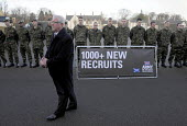 Scottish SNP MSP Bruce Crawford with some of the 1000 new recruits who have joined the British Army from north of the border during the last 12 months. This figure represents a 25% increase of those w... - Mike Day - 2000s,2009,Armed Forces,army,border,employee,employees,Employment,figure,job,jobs,LAB,LBR,male,man,men,military,MOD,National,ne,Party,people,person,persons,pol,political,POLITICIAN,POLITICIANS,politic