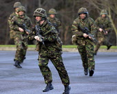 Some of the 1000 new recruits who have joined the British Army from north of the border during the last 12 months. This figure represents a 25% increase of those who have enlisted in the last 12 month... - Mike Day - 2000s,2009,armed,Armed Forces,arms,army,border,employee,employees,Employment,Enfield,exercise,exercises,figure,gun,guns,job,jobs,LAB,LBR,male,man,men,military,MOD,new,people,person,persons,recruit,REC