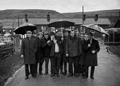 Roving miners pickets from Ogilvie colliery, South Wales during strike during 1972 miners strike - Martin Mayer - Miners Strike, Miner's Strike NUM, Trades Union,1970s,1972,coalfield,collieries,colliery,dispute,DISPUTES,EARNINGS,EQUALITY,Income,INCOMES,INDUSTRIAL DISPUTE,inequality,living wage,low pay,Low Income,