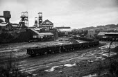 Oakdale colliery silent during 1972 miners strike,Sirhowy Valley, South Wales - Martin Mayer - 21-01-1972