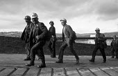 Miners leaving work at Oakdale pit, South Wales just before 1974 strike. - Martin Mayer - 25-01-1974