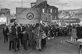 Trades union members from Stirling, Scotland march in support of miners from Polmaise pit, Scotland - NLA - ,1970s,1974,activist,activists,banner,banners,CAMPAIGN,campaigner,campaigners,CAMPAIGNING,CAMPAIGNS,capitalism,capitalist,Coal Industry,Coal Mine,coalindustry,collieries,colliery,DEMONSTRATING,DEMONST