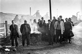 Pickets at Cadeby colliery, South Yorkshire, 1974 miners strike. - Martin Mayer - ,1970s,1974,Cadeby,capitalism,capitalist,Coal Industry,Coal Mine,coalindustry,collieries,colliery,DISPUTE,DISPUTES,INDUSTRIAL DISPUTE,Industries,industry,maker,makers,making,male,man,member,member mem