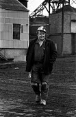 Miner from Rockingham colliery, near Barnsley leaving work - Martin Mayer - 12-12-1974