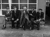Older dockers, who failed to get work for the day, East India dock, London, as containerisation is about to destroy their jobs for good. - Martin Mayer - 06-07-1970