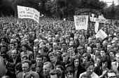 Upper Clyde Shipbuilders workers, Glasgow A march and rally of 80,000 trades union members opposing the threatened closure of the yards. They later occupied the yards in a 'work-in', which saved some... - Martin Mayer - 23-06-1970