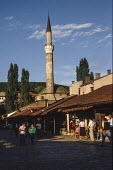 Sarajevo Old Town, Bosnia, with The Gazi Husrev-bey Mosquebehind. - Martin Mayer - 07-09-1990