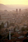 Sarajevo city, Bosnia, at sunset. - Martin Mayer - 07-09-1990