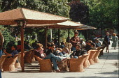 Open air cafe in central Sarajevo, Bosnia, before the civil war - Martin Mayer - 10-09-1990
