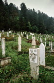 Muslim cemetery in Foca, Eastern Bosnia. It was desecrated Serbian nationalists during the civil war - Martin Mayer - 10-09-1990