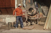 Building worker in Sarajevo Old Town, Bosnia - Martin Mayer - 10-09-1990