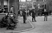 British troops on the streets of the Catholic enclave of Short Strand in the predominantly Protestant East Belfast on day 2 of internment without trial - Martin Mayer - 10-08-1971