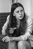 Bernadette Devlin interviewed - Martin Mayer - 1970s,1972,activist,activists,Bernadette,Bernadette Devlin,Bernadette Devlin McAliskey,CAMPAIGN,campaigner,campaigners,CAMPAIGNING,CAMPAIGNS,cigarette,CIGARETTES,civil rights,Devlin,equal rights,equal